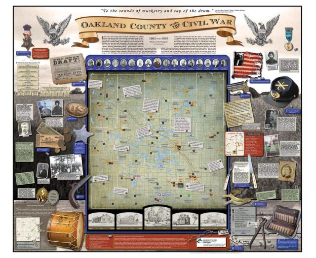 Local lessons oakland county and the civil war oakland schools patterson unveiled the amazing oakland county in the civil war map in 2011 to mark the 150th anniversary of the start of the civil war freerunsca Image collections