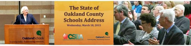 State of Oakland County Schools 2015