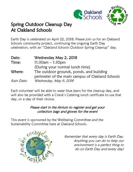 Spring Outdoor Cleanup Day 2018